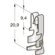 """Клемма неизолированная UNI зажим 6,3 CuSn-Sn """"мама"""", сечение провода 0,5-1,5"""