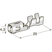 "Клемма неизолированная зажим MINI F280 2,8 CuFe-Sn ""мама"", сечение провода 0,35-0,75"
