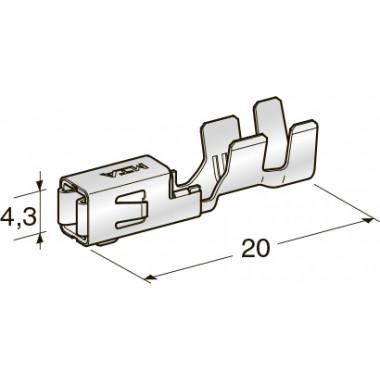 "Клемма неизолированная зажим MINI F280 2,8 CuFe-Sn ""мама"", сечение провода 2,5-4"