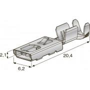 """Клемма неизолированная зажим F480E 4,8 Cu Alloy-Sn """"мама"""", сечение провода 1,5-2,5"""