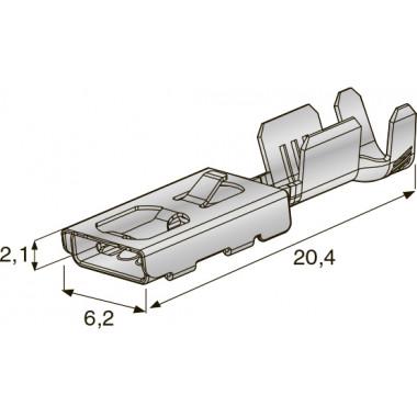 """Клемма неизолированная зажим 6,2х2,1 CuZn-Sn """"мама"""", сечение провода 0,35-0,5, шт"""