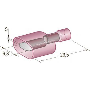 Клемма изолированная M630 CuZn-Sn PVC папа, сечение провода 0,25-1