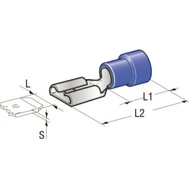 Клемма изолированная Cu-Zn PVC мама, сечение провода 1-1,25, шт