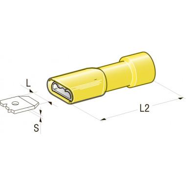 Клемма изолированная CuZn-Sn PVC мама, сечение провода 1-2,5