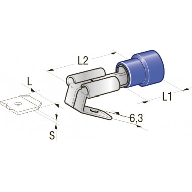 Клемма изолированная PIGGY BACK CuZn-Sn PVC папа, сечение провода 1-2,5