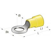 Клемма изолированная кольцевая Cu-Sn PA66, М6,4 сечение провода 2,5-6, шт