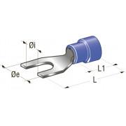 Клемма вилочная изолированная d=5,3 Cu-Sn PA66 сечение провода 0,25-1