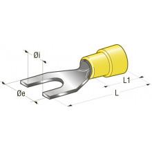 Клемма вилочная изолированная d=4,3 Cu-Sn PA66 сечение провода 2,5-6