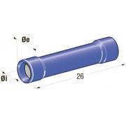 """Клемма изолированная цилиндрическая """"папа"""" d=1,9 CuZn-Sn PA66, сечение провода 1-2,5"""