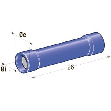 Клемма изолированная цилиндрическая папа d=1,9 CuZn-Sn PA66, сечение провода 1-2,5