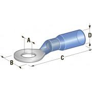Клемма кольцевая в термоусадке d=10,5 Cu-Sn PE сечение провода 1,25-2,5
