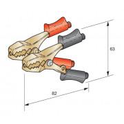 Клемма провода прикуривателя 40А сечение провода 6-10 красная