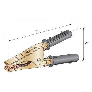 Клемма провода прикуривателя 400А сечение провода 10-30 черная