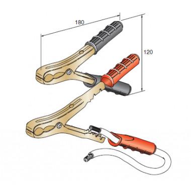 Клеммы проводов прикуривателя 120А сечение провода 10-35