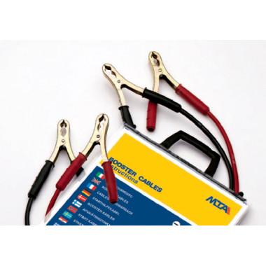 Клеммы проводов прикуривателя с проводом 120 А сечение 10 (2,5 м.) в пакете