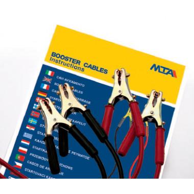Клеммы проводов прикуривателя с проводом 500 А сечение 50 (5,0 м.) в пакете