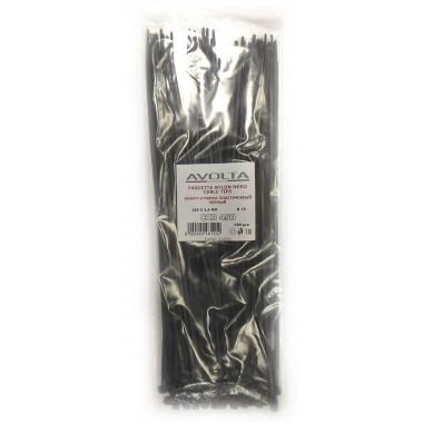 Хомут-стяжка пластиковый черный 290 х 3,6 мм d=75 (упак 100 шт)