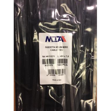 Хомут-стяжка пластиковый черный 450 х 7,8 мм d=125