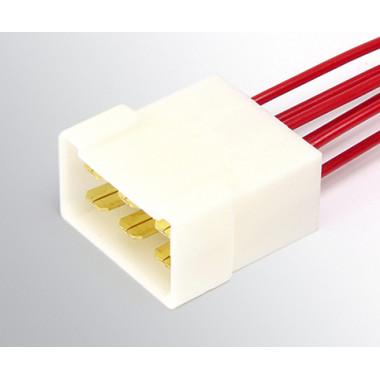 Колодка межжгутовая 6 контактная штыревая серии 6.3, с проводами