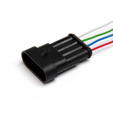 Колодка штыревая, 4-х контактная, с проводами (ответна часть АХ-308)