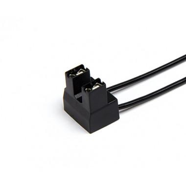 Колодка 2-х контактная к лампе Н7 с боковым креплением,, с проводами