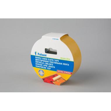 Двусторонняя тканевая лента Folsen 50мм х 25м (тканевая)