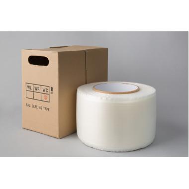 Двустороняя лента для заклеивания пакетов 14мм х 4мм х 7мм х 10000м (реверс)