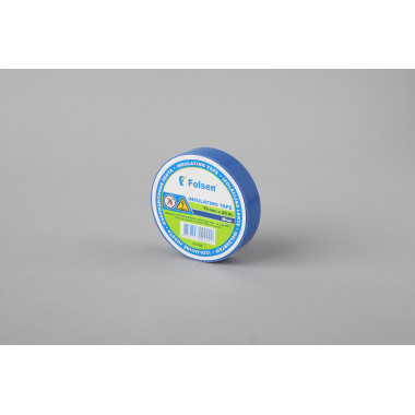 Изоляционная лента Folsen 19мм x 20м, синяя,  Premium (от -18oC до +105oC)