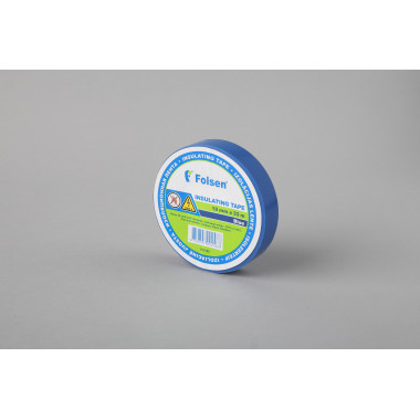 Изоляционная лента Folsen 19мм x 33м, синяя, Premium (от -18oC до +105oC)