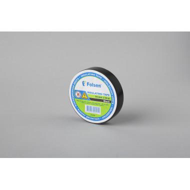 Изоляционная лента Folsen 19мм x 33м, черная,  Premium (от -18oC до +105oC)