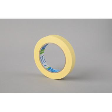 Малярная лента Folsen, желтая, 80oC, 19мм x 50м