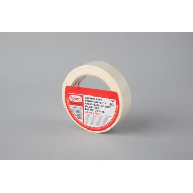 Малярная лента SPINO, белая, 60oC, 30мм x 50м  инд. упаковка