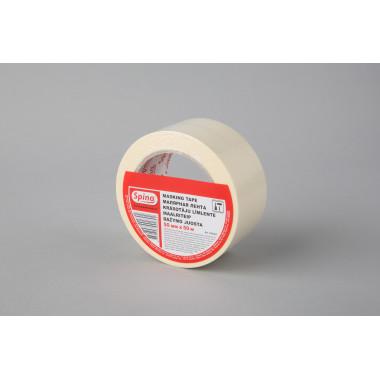 Малярная лента SPINO, белая, 60oC, 50мм x 50м  инд. упаковка