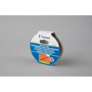 Самоклеящаяся лента против скольжения Folsen 25mm x 5m, чёрная