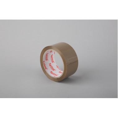 Упаковочная лента SPINO 48мм x 66м, коричневая, PP, 45мк
