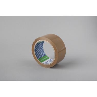 Упаковочная лента Folsen 48мм x 66м, коричневая, Solvent, PP 45мк