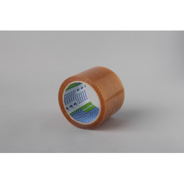 Упаковочная лента Folsen 75мм x 66м, прозрачная, Solvent, PP 45мк