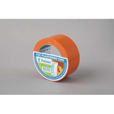 Cтроительная лента PVC Folsen, оранжевая, 50мм x 33м