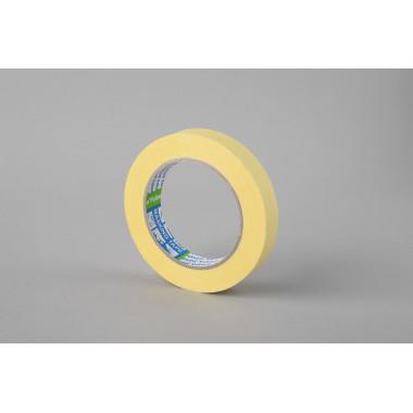 Малярная лента Folsen, желтая, 60oC, 19мм x 50м