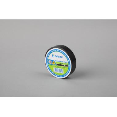Изоляционная лента Folsen 19мм x 20м, черная,  Premium (от -18oC до +105oC)
