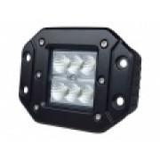 Светодиодная врезная фара 18 Вт с широким лучом  LED Cree