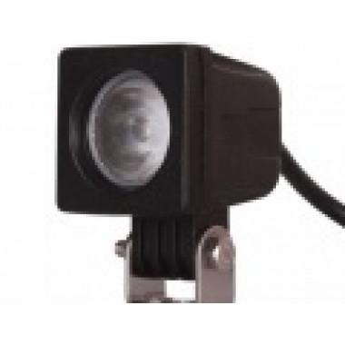 Светодиодная фара рабочего света 10 Вт квадратная с круглым рефлектором LED? Cree