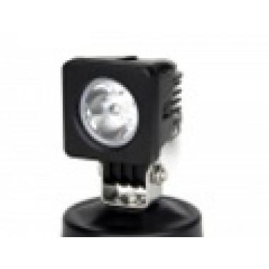 Светодиодная фара рабочего света 10 Вт (Spot) квадратная с круглым рефлектором   LED Cree