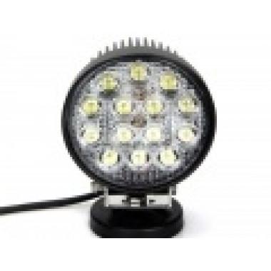 Светодиодная LED фара рабочего света 42 Вт круглая (Spot)  LED Epistar