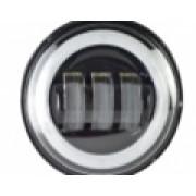 """Светодиодные противотуманные фары.Комплект птф светодиодные фары 4,5"""" по 30 Вт с кольцом Halo"""