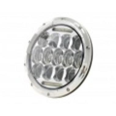 Светодиодные фары головного света 75 Ватт 7 дюймов хром