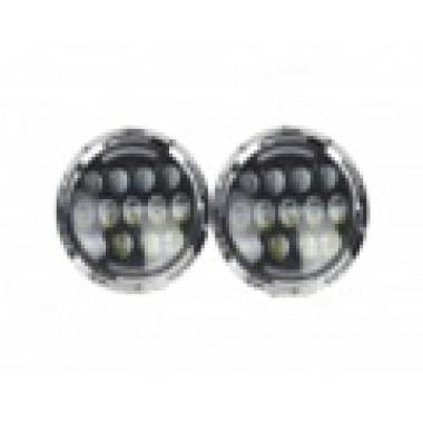 Светодиодные фары 85 Ватт с ДХО Нива-УАЗ