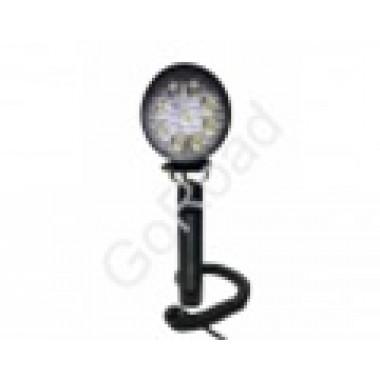 Светодиодный LED фара-искатель ручной 27 ватт круглый