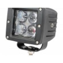 LED фара рабочего света 12 Вт. 4D Узкий луч.