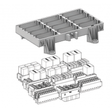 Рамка под блоки реле и предохранителей 12 секционная